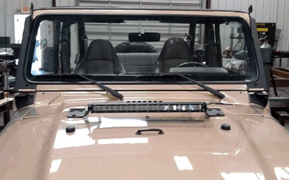 "Hammerhead TJ Wrangler 20"" Light Bar Hood Mount"