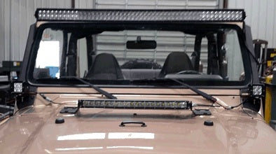Hammerhead TJ Wrangler A-Pillar Cube Light Mount