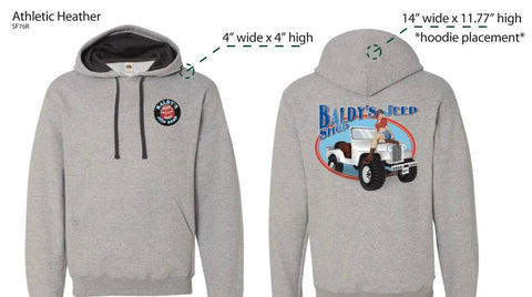 Baldy's Pull Over Pin Up Hoodie