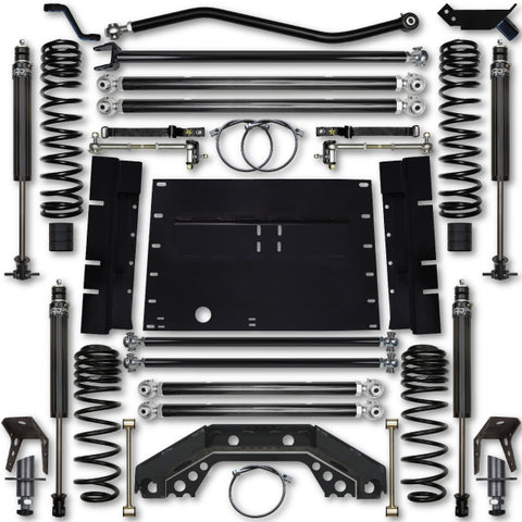 Rock Krawler TJ 3.5 Inch X Factor 5 Inch Stretch Stg 1 Long Arm Lift Kit w/ 2.25 RRD Shocks 97-02 Wrangler