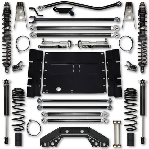 Rock Krawler TJ 4.5 Inch X Factor Long Arm Stg 1 Lift Kit w/ Coilover Shocks 03-06 Wrangler