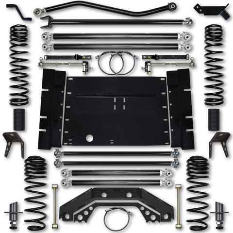 Rock Krawler TJ 4.5 Inch X Factor Long Arm 5 Inch Stretch Lift Kit 03-06 Wrangler