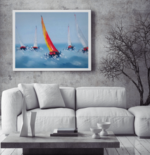 Sailing boats oil painting on canvas by London Artlife