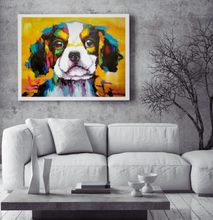 Cooper the cute dog multi colour oil painting on canvas by London Artlife