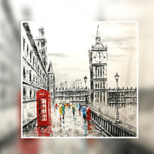 London Big Ben black and white with red phone booth oil painting on canvas by London Artlife