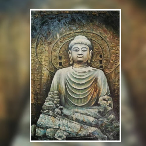 Buddha oil painting on canvas by London Artlife