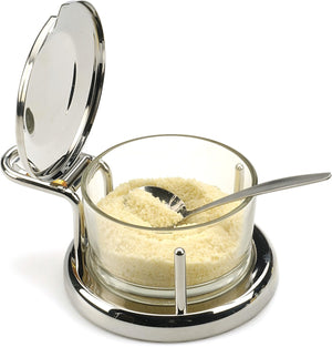 RSVP Endurance Glass Salt Server with Spoon