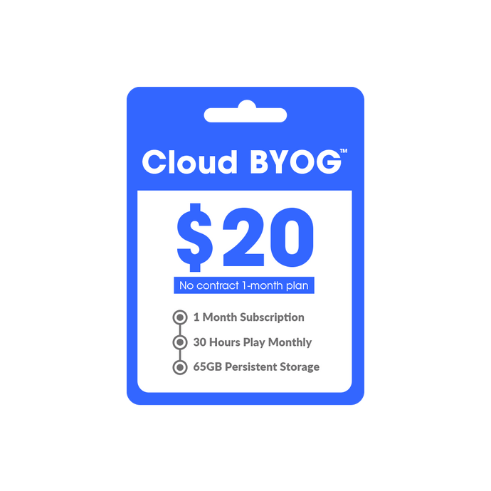 Cloud BYOG™ Subscription (One Month)