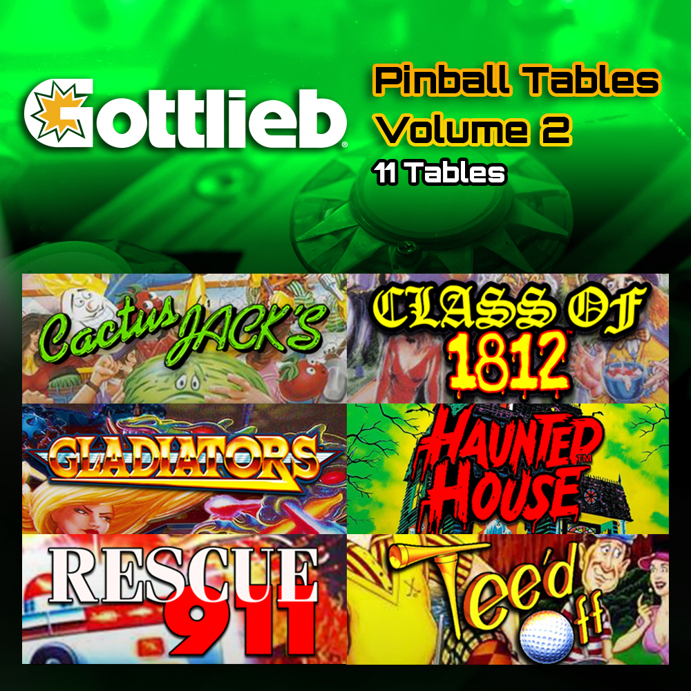 Gottlieb Tables Volume 2 Reservation [Reserve with $20 deposit. Full price is $50]