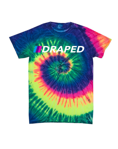 Candy light tie dye multi color print tee- unisex