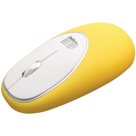 Adesso IMOUSE E60Y iMouse E60 Wireless Antistress Gel Mouse (Yellow)-Computer Peripherals & Home Office-Adesso-Luxurychill