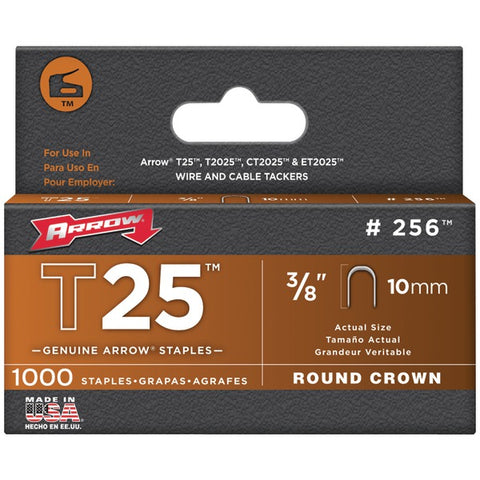"Arrow 256 T25 Round Crown Staples, 3-8""-10mm; 1,000 pk-Appliance Accessories Tools & RTO-Arrow-Luxurychill"