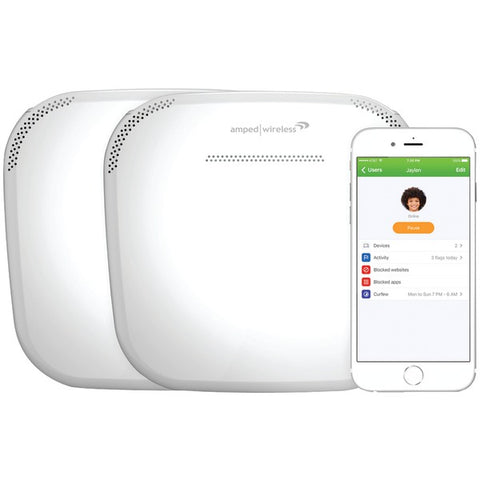 Amped Wireless ALLY-0091K ALLY Plus Whole Home Smart Wi-Fi System-Computer Peripherals & Home Office-Amped Wireless-Luxurychill