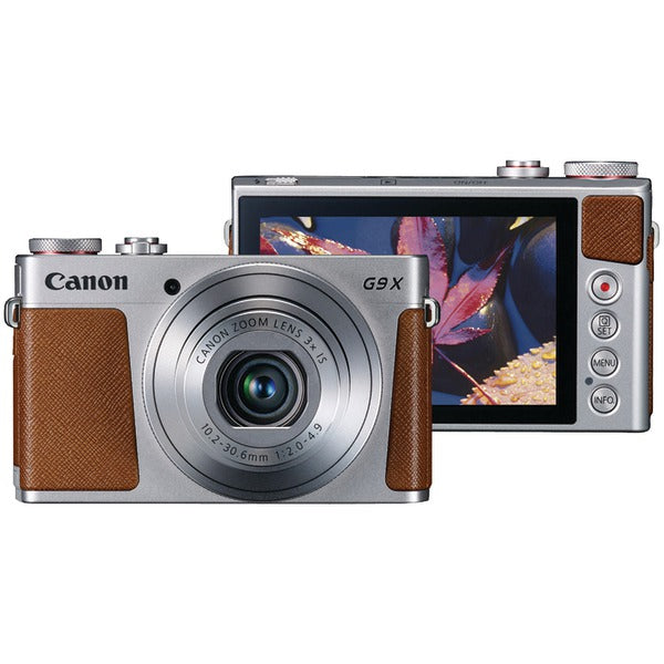 Canon 0924C001 20.0-Megapixel PowerShot G9X Digital Camera (Silver)-Portable & Personal Electronics-Canon-Luxurychill