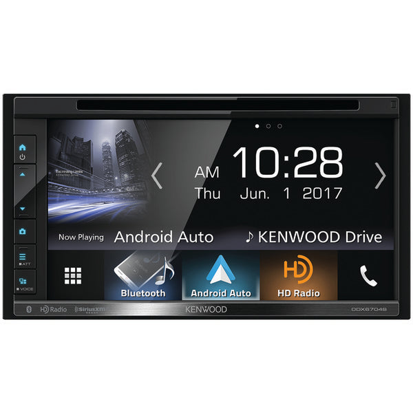 "KENWOOD DDX6704S 6.8"" Double-DIN In-Dash DVD Receiver with Bluetooth, Apple CarPlay, Android Auto, HD Radio & SiriusXM Ready-Automotive Marine & GPS-Kenwood-Luxurychill"