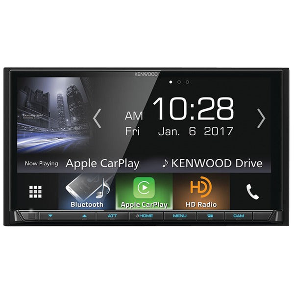 "KENWOOD DMX7704S 6.95"" Double-DIN In-Dash Digital Media Receiver with Bluetooth, Apple CarPlay, Android Auto & SiriusXM Ready-Automotive Marine & GPS-Kenwood-Luxurychill"