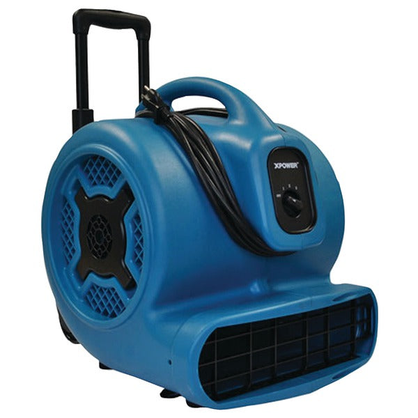 XPOWER X-830H X-830H 1hp 3,600cfm 3-Speed Commercial Air Mover-Carpet Dryer-Floor Blower Fan with Telescopic Handle & Wheels-Appliance Accessories Tools & RTO-Xpower-Luxurychill