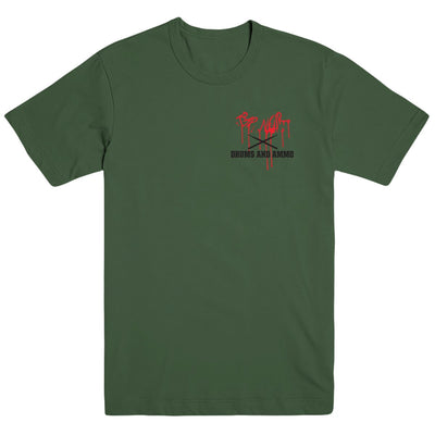 Rap Noir x Drums and Ammo T-Shirt (Military Green)