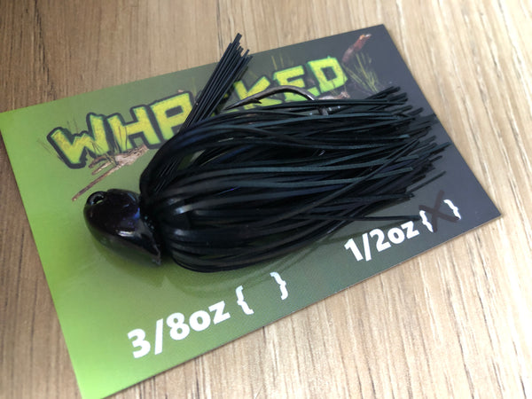 1/2oz WHACKED BRUSH HEAD JIG ~ BLACK
