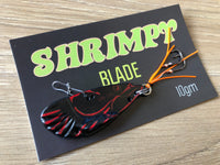 50mm / 10g Evil Black Shrimpy Blade - Orange Stinger Hooks