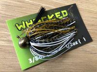 1/2oz WHACKED FOOTBALL JIG ~ BATTLE TOAD