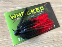 1/4oz WHACKED FOOTBALL JIG - FIRETIP RED
