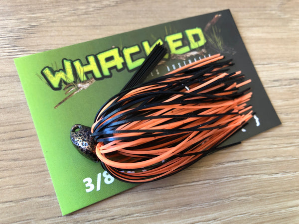 1/4oz WHACKED BRUSH HEAD JIG ~ BRONZE TIGER