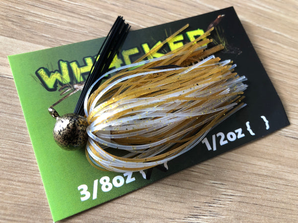 3/8oz WHACKED FOOTBALL JIG - WHITE GOLD