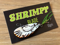 50mm / 10g Glo White Shrimpy Blade -  Lime Stinger Hooks