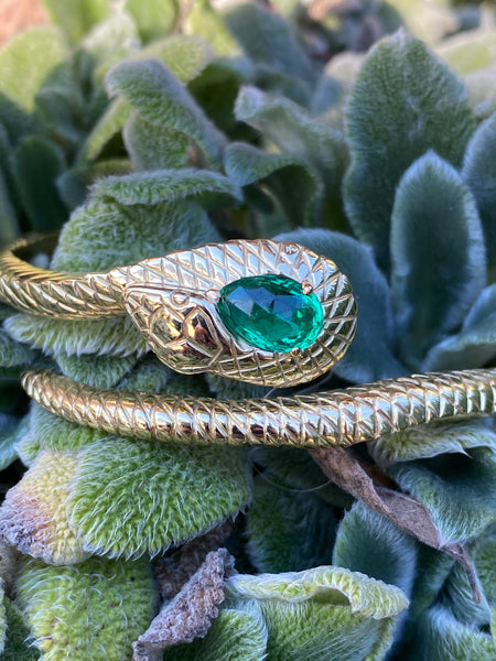 Colombian Emerald Serpent Bracelet