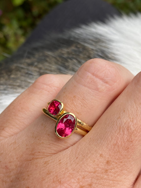 Tanzanian Spinel Stacking Ring- 1.2 carats