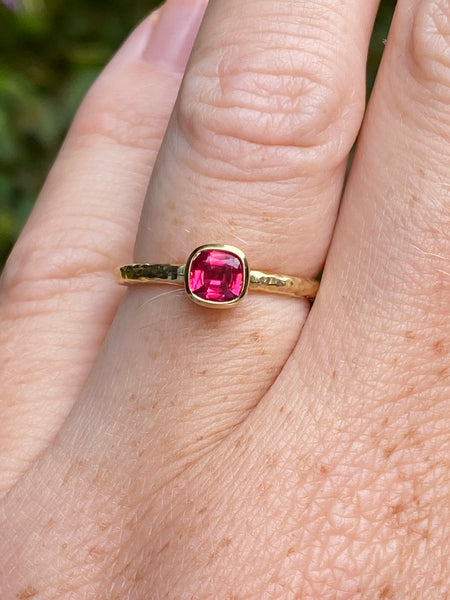 Tanzanian Spinel Stacking Ring- 0.56 carat