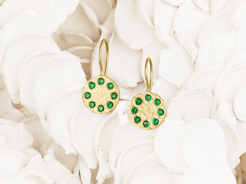 Sundial Tsavorite Earrings