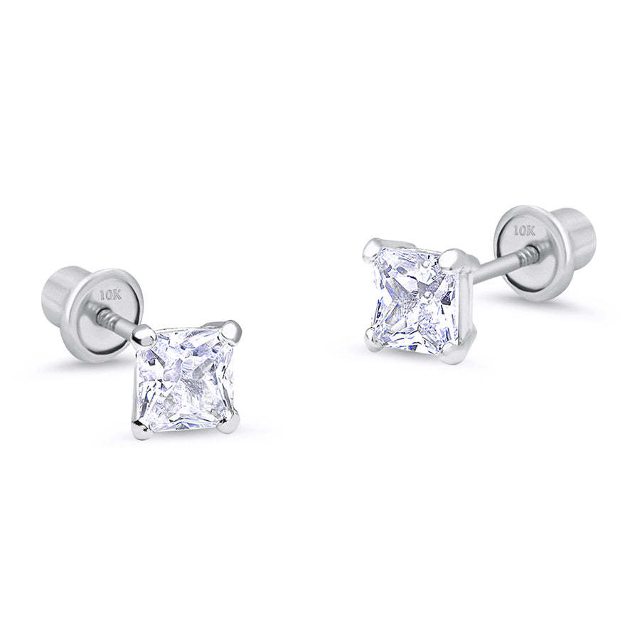 10k White Gold Stud Earrings