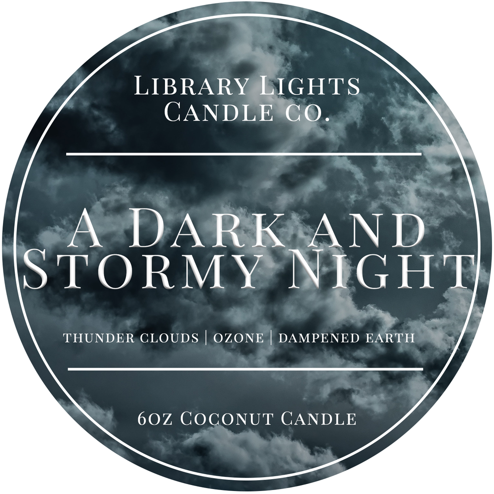 6oz Tin Candle - A Dark and Stormy Night