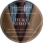 6oz Tin Candle - Duke Simon