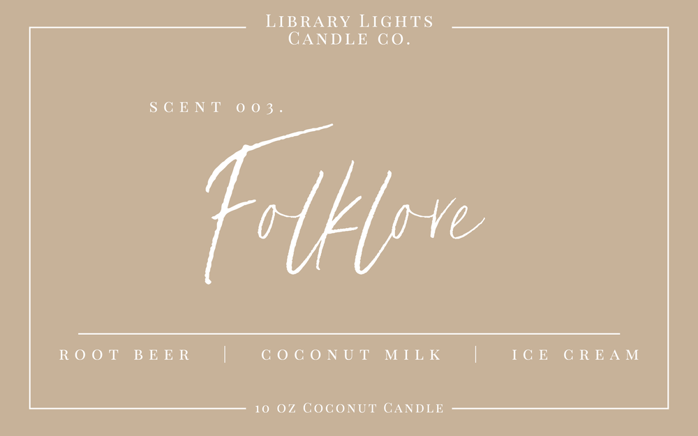 10oz Candle - 003. Folklore