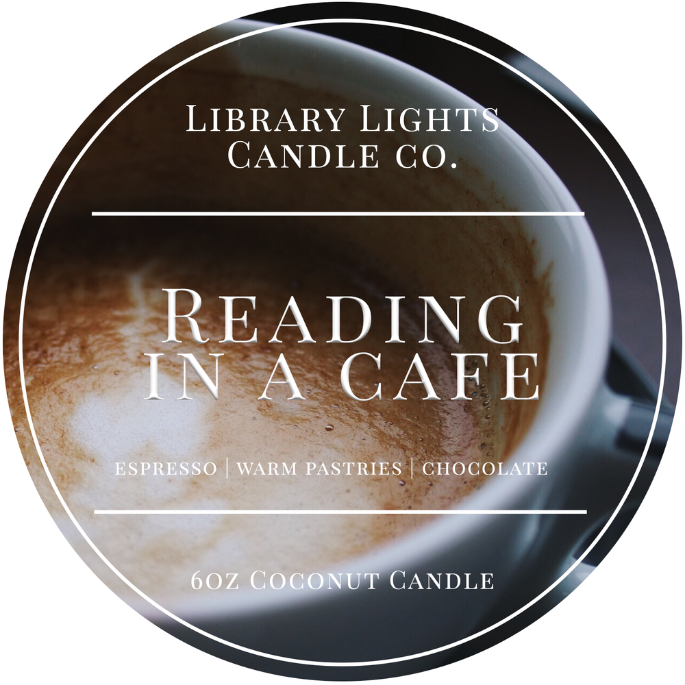 6oz Tin Candle - Reading in a Cafe