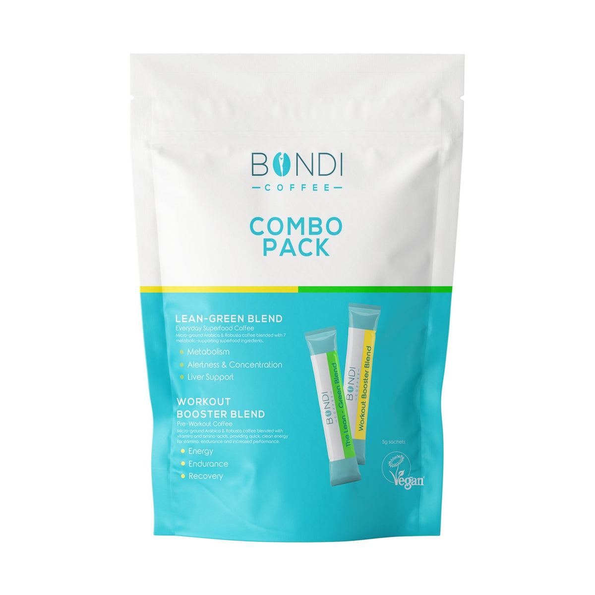 Combo Pack: 7 Lean-Green + 7 Workout Booster - Bondi Coffee