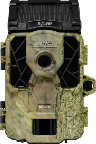 SPYPOINT TRAIL CAM SOLAR 12MP HD SOUND VIDEO LOW GLOW CAMO - Hot Sporting Optics