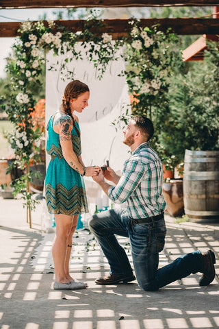 how to keep ring box hidden surprise proposal