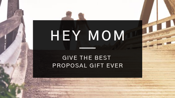 mom giving proposal gift