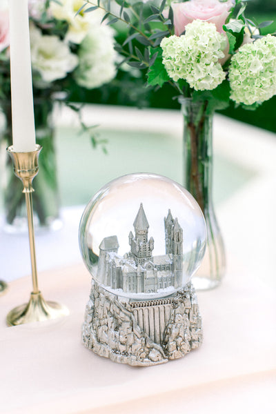 snow globe on table