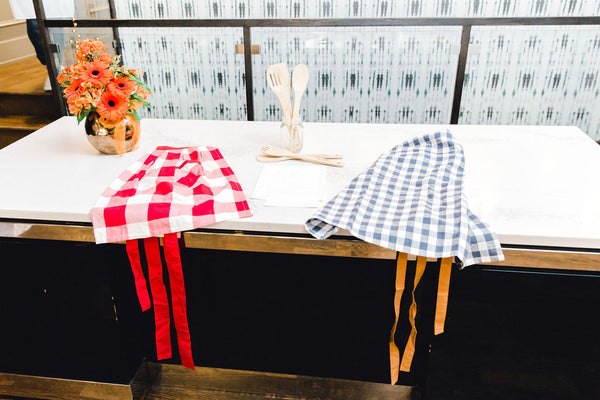 aprons on table