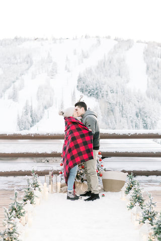 cold weather surprise proposal