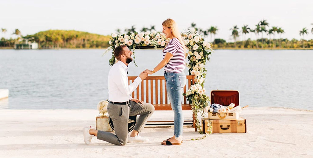 travel themed marriage proposal
