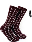 Maroon socks for Men to Hide Ring Box