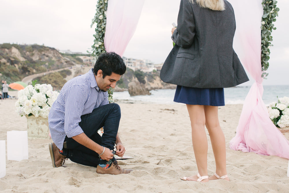 where to hide ring box for beach proposal