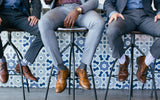 groomsmens designer socks with secure pocket