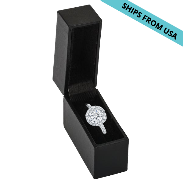 slim discreet black ring box